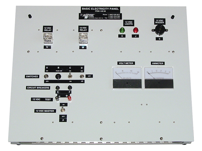 Aircraft Basic Electricity Panel AE58