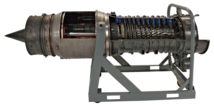 Cut Away J34 Turbojet Engine E41