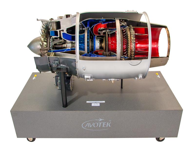 Pratt and Whitney JT15D Cutaway E65